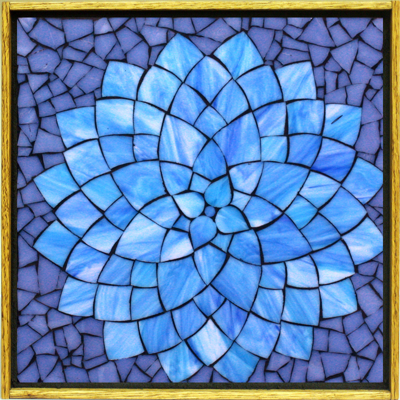 Kasia mosaics classes online flower class for Mosaic patterns online