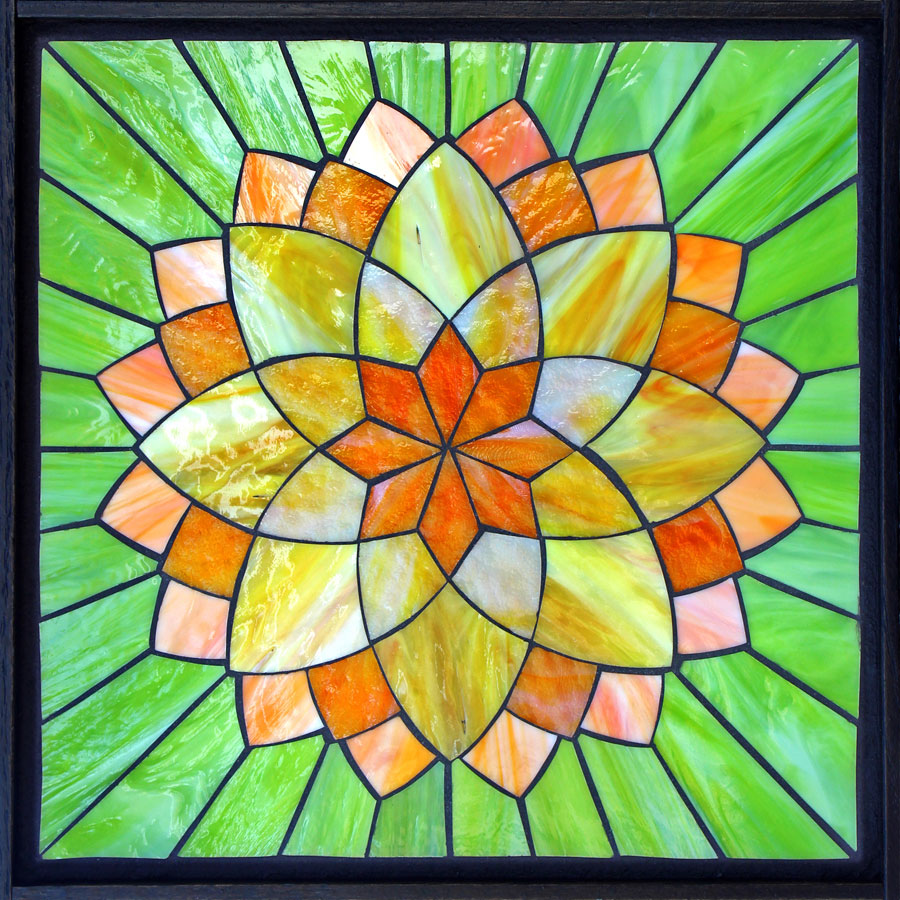 Kasia mosaics classes online flower class for Designs for mosaics templates