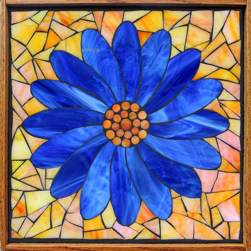 Kasia-Mosaics-Stained-Glass-Mosaic-Sunflower-Art-Classes-Framed-