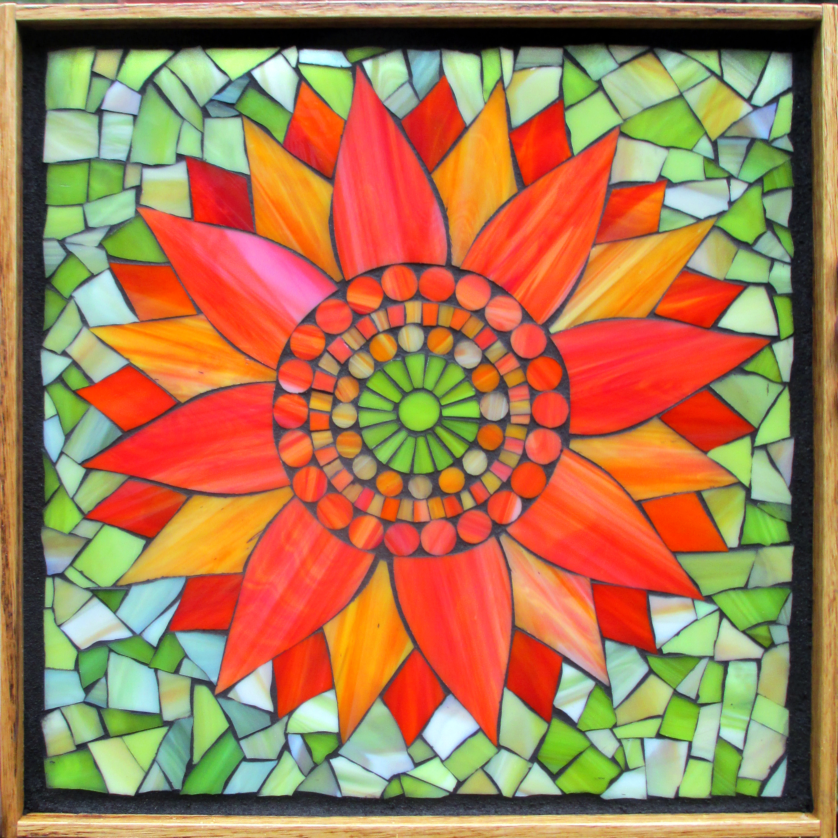 Glazed Mosaic Tiles : Kasia mosaics classes online flower class