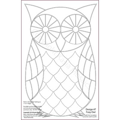 Kasia Mosaics Classes Template Download Owl Design 7 Foxy Owl – Owl Template