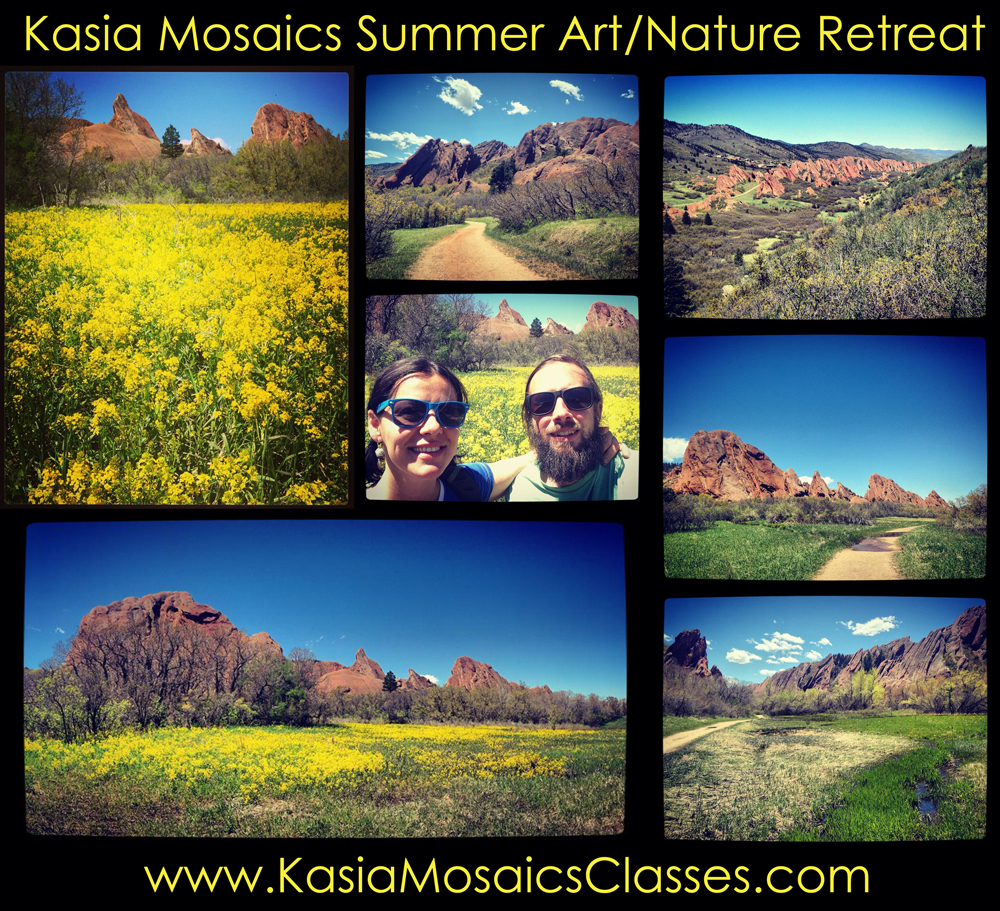 Kasia Mosaics Art Nature Mosaic Retreat Colorado