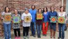 Kasia Mosaics Dallas Texas Stained Glass Mosaic Flower Workshop 2015