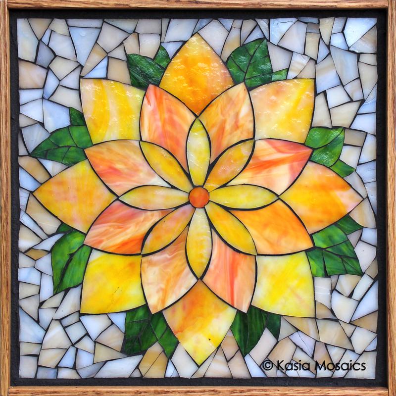 Summer Flowers Mosaic Vase