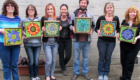 Kasia Mosaics Stained Glass Mosaic Flower Workshop New Jersey 2014 47