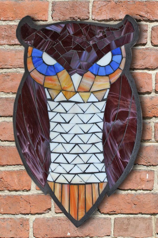 kasia mosaics classes  u00bb student owls created in a studio
