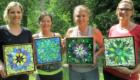 Kasia Polkowska Stained Glass Mosaic Flower Class Workshopt Boulder Colorado June 2014 29
