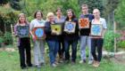 Kasia Polkowska Stained Glass Mosaic Flower Workshop Boulder Colorado 2015 35