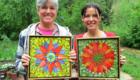Kasia Polkowska Stained Glass Mosaic Flower Workshop Boulder Colorado June 2014 28