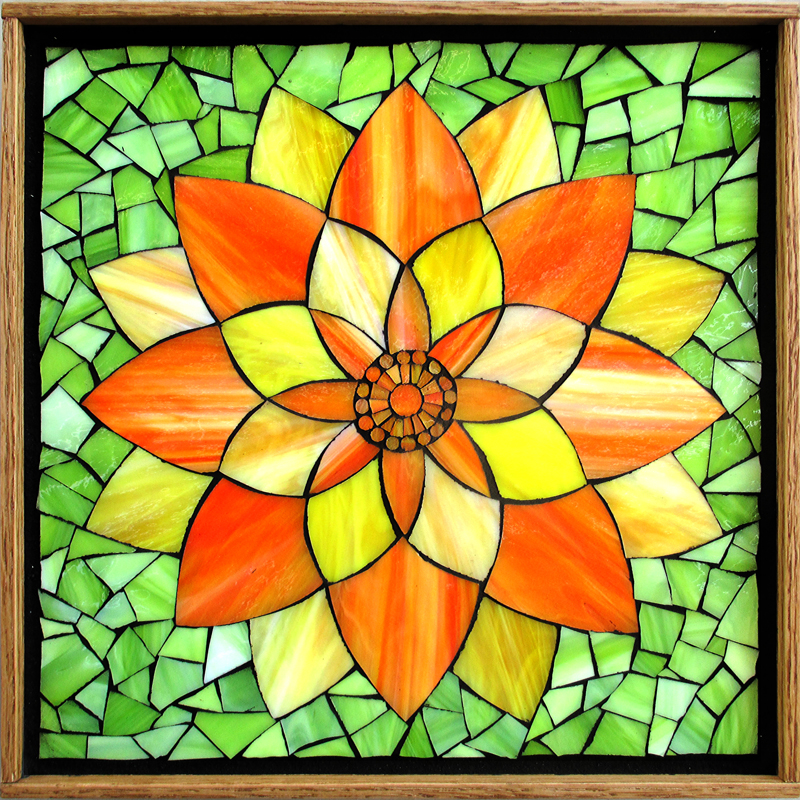 Adirondack® Alcohol Ink Mosaic Flowers Card | Ranger Ink and ...