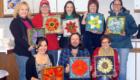 Kasia Polkowska Stained Glass Mosaics Flower Workshop Colorado