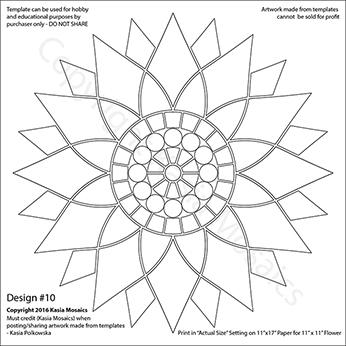 kasia mosaics classes flower template 10