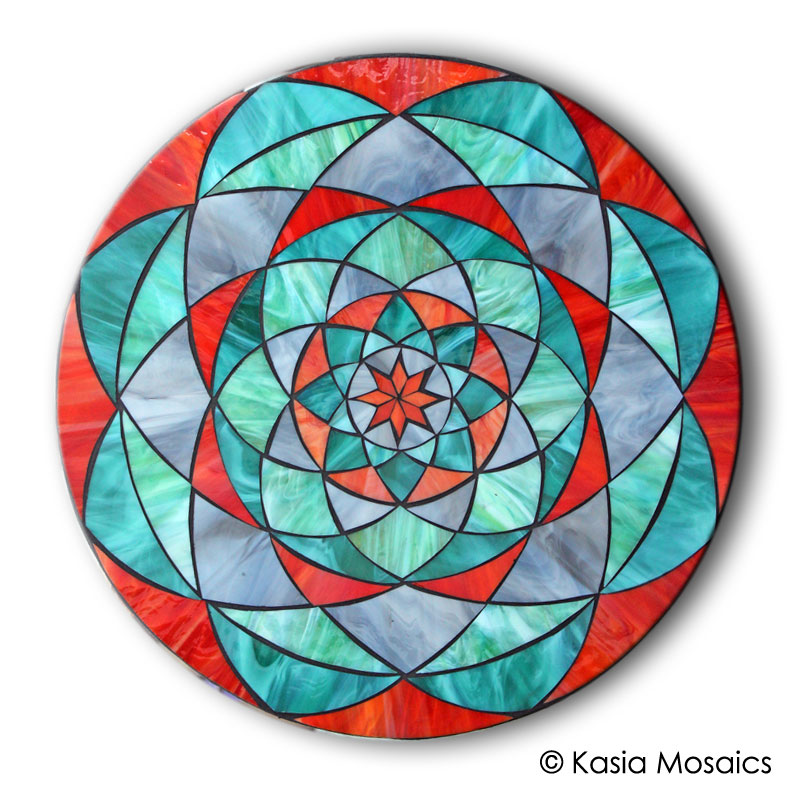 Kasia mosaics classes template download mandala design 5 for Designs for mosaics templates