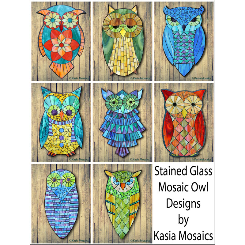 Kasia Mosaics Classes » Product categories » Owl Template Downloads