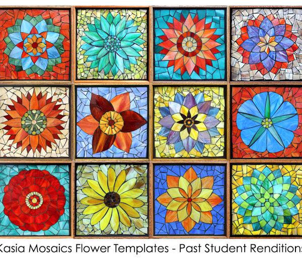 Kasia Mosaics Classes » Template Download: Complete Flower Set (QTY 12)