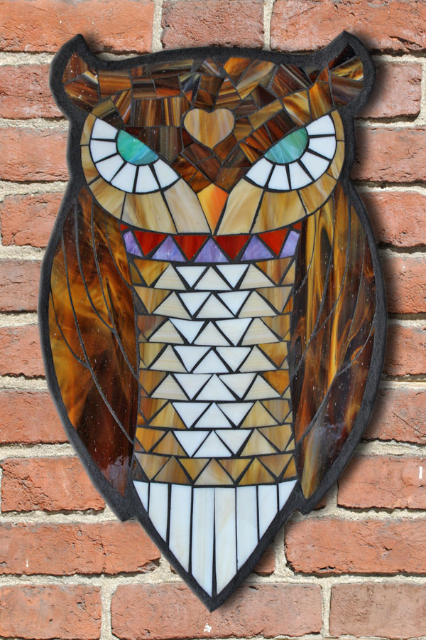 Kasia-Mosaics-Stained-Gl-Mosaic-Owl-Flower-Workshop-San-Diego-1  Page Newsletter Templates on