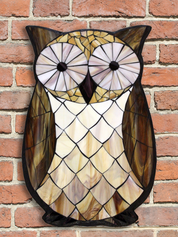 kasia mosaics classes  u00bb student owls created in a studio workshop