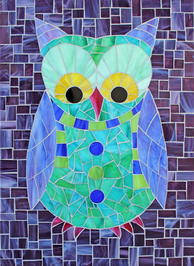Kasia Mosaics Classes » Template Download: Complete Owl Set (QTY 8)